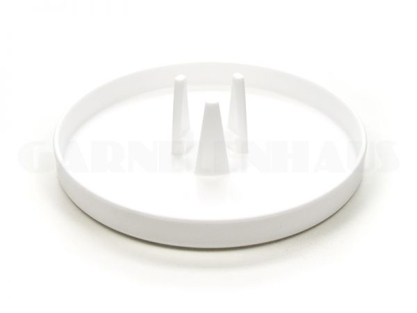 Food bowl EBI with adapter for feeding tube, white