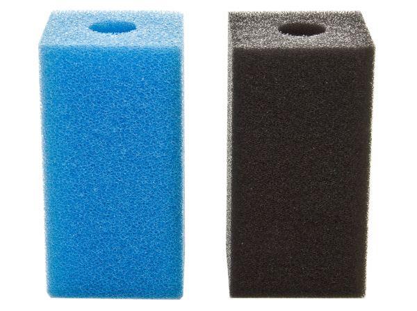 Fhoch2 Filterschwamm / Garnelen-Ansaugschutz - 16 mm Lochbohrung in blau oder schwarz