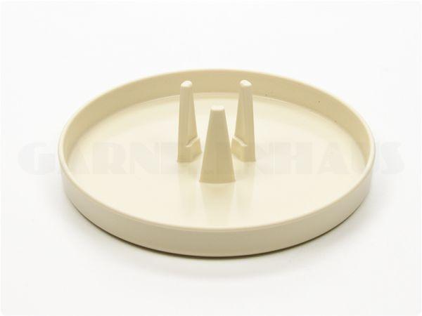 Food bowl EBI with adapter for feeding tube, beige