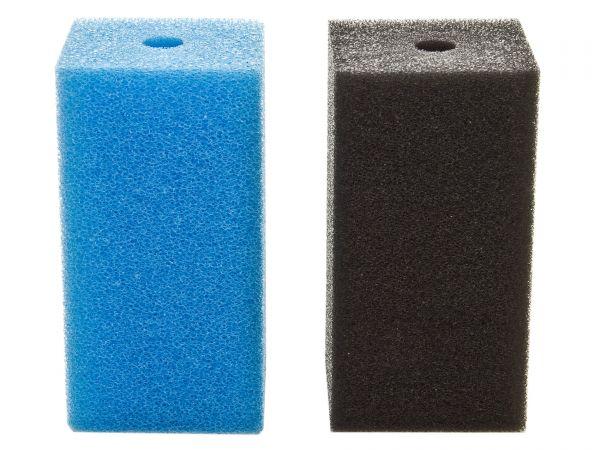 Fhoch2 Filterschwamm / Garnelen-Ansaugschutz - 10 mm Lochbohrung in blau oder schwarz