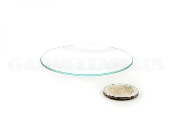 Shallow glass food bowl, 62/8 mm