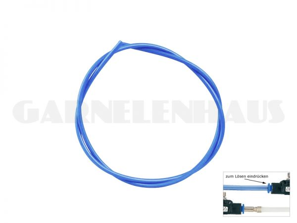 CO2 hose, transparent blue, 2 m