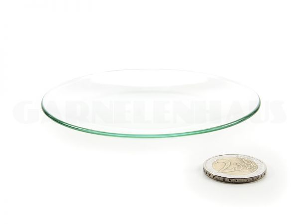 Shallow glass food bowl, 100/13 mm