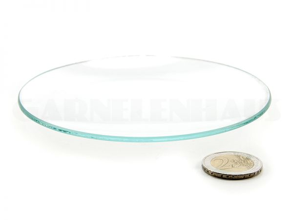 Shallow glass food bowl, 123/13 mm