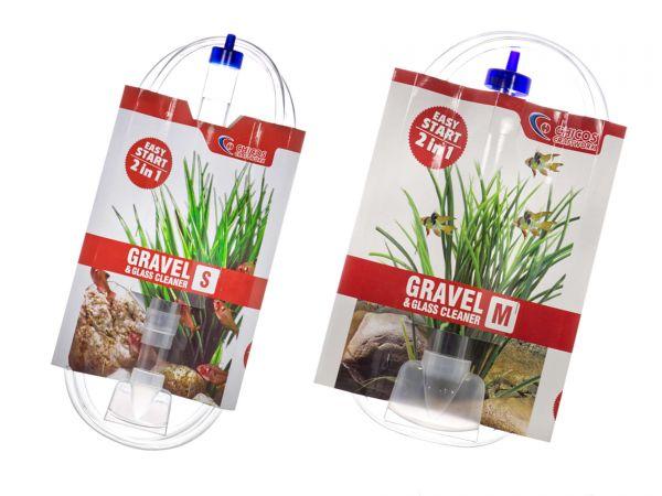 GH-GOODS - Boden- und Glasreiniger (Mulmsauger) für Aquarien